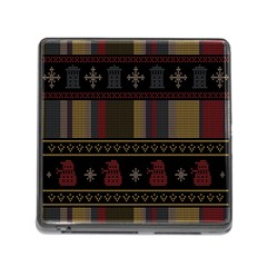 Tardis Doctor Who Ugly Holiday Memory Card Reader (Square)