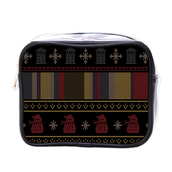 Tardis Doctor Who Ugly Holiday Mini Toiletries Bags