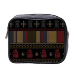 Tardis Doctor Who Ugly Holiday Mini Toiletries Bag 2-Side Front