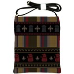 Tardis Doctor Who Ugly Holiday Shoulder Sling Bags Front