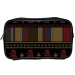 Tardis Doctor Who Ugly Holiday Toiletries Bags 2-Side Back
