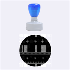 Tardis Doctor Who Ugly Holiday Rubber Round Stamps (Medium)