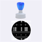 Tardis Doctor Who Ugly Holiday Rubber Round Stamps (Medium) 1.5 x1.5  Stamp