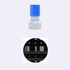 Tardis Doctor Who Ugly Holiday Rubber Round Stamps (Small)