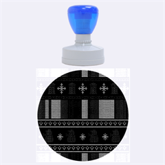Tardis Doctor Who Ugly Holiday Rubber Round Stamps (Large)