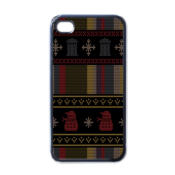 Tardis Doctor Who Ugly Holiday Apple iPhone 4 Case (Black)
