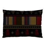 Tardis Doctor Who Ugly Holiday Pillow Case (Two Sides) Back
