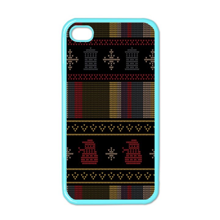 Tardis Doctor Who Ugly Holiday Apple iPhone 4 Case (Color)