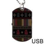Tardis Doctor Who Ugly Holiday Dog Tag USB Flash (Two Sides)  Front
