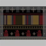 Tardis Doctor Who Ugly Holiday Deluxe Canvas 18  x 12   18  x 12  x 1.5  Stretched Canvas
