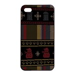 Tardis Doctor Who Ugly Holiday Apple iPhone 4/4s Seamless Case (Black) Front