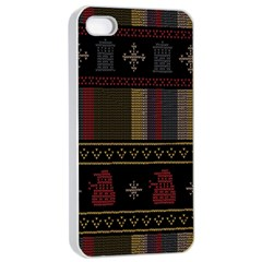 Tardis Doctor Who Ugly Holiday Apple Iphone 4/4s Seamless Case (white)