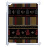 Tardis Doctor Who Ugly Holiday Apple iPad 2 Case (White) Front