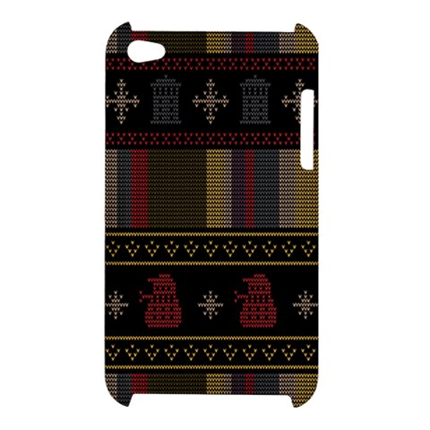 Tardis Doctor Who Ugly Holiday Apple iPod Touch 4
