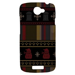 Tardis Doctor Who Ugly Holiday HTC One S Hardshell Case