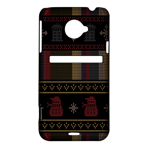 Tardis Doctor Who Ugly Holiday HTC Evo 4G LTE Hardshell Case