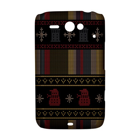 Tardis Doctor Who Ugly Holiday HTC ChaCha / HTC Status Hardshell Case