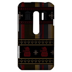 Tardis Doctor Who Ugly Holiday HTC Evo 3D Hardshell Case