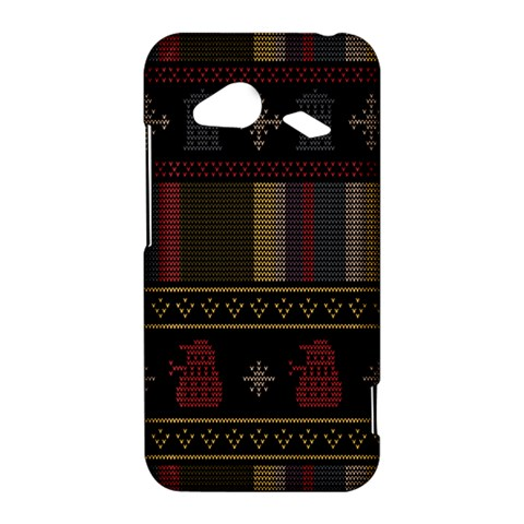 Tardis Doctor Who Ugly Holiday HTC Droid Incredible 4G LTE Hardshell Case
