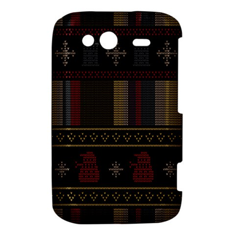 Tardis Doctor Who Ugly Holiday HTC Wildfire S A510e Hardshell Case
