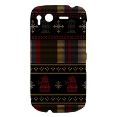 Tardis Doctor Who Ugly Holiday HTC Desire S Hardshell Case