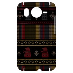 Tardis Doctor Who Ugly Holiday HTC Desire HD Hardshell Case