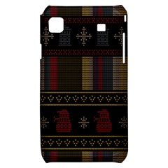 Tardis Doctor Who Ugly Holiday Samsung Galaxy S i9000 Hardshell Case