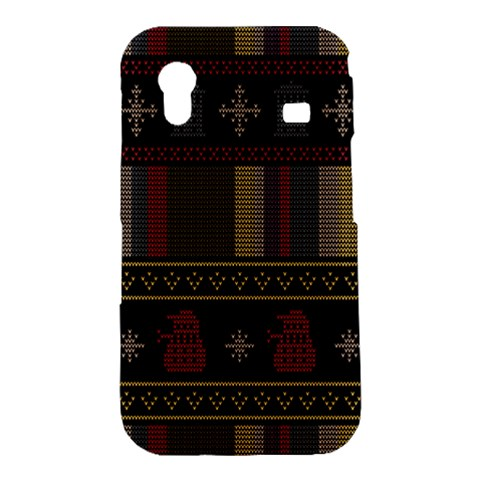 Tardis Doctor Who Ugly Holiday Samsung Galaxy Ace S5830 Hardshell Case