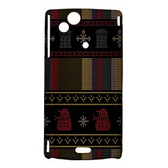 Tardis Doctor Who Ugly Holiday Sony Xperia Arc