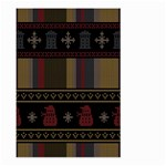 Tardis Doctor Who Ugly Holiday Large Garden Flag (Two Sides) Back