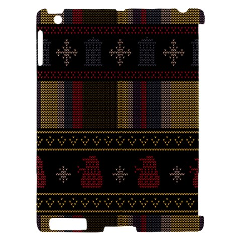 Tardis Doctor Who Ugly Holiday Apple iPad 2 Hardshell Case (Compatible with Smart Cover)