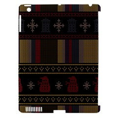 Tardis Doctor Who Ugly Holiday Apple Ipad 3/4 Hardshell Case (compatible With Smart Cover)