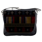 Tardis Doctor Who Ugly Holiday Messenger Bags Front