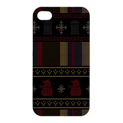 Tardis Doctor Who Ugly Holiday Apple iPhone 4/4S Premium Hardshell Case