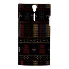 Tardis Doctor Who Ugly Holiday Sony Xperia S