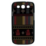 Tardis Doctor Who Ugly Holiday Samsung Galaxy S III Case (Black) Front
