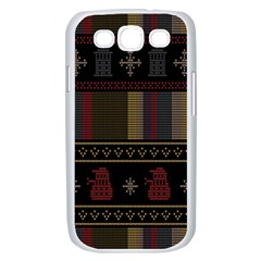 Tardis Doctor Who Ugly Holiday Samsung Galaxy S III Case (White)