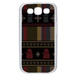 Tardis Doctor Who Ugly Holiday Samsung Galaxy S III Case (White) Front