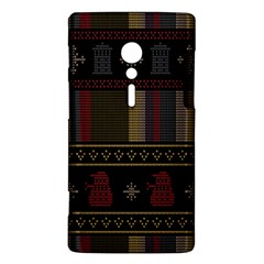 Tardis Doctor Who Ugly Holiday Sony Xperia ion