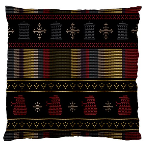 Tardis Doctor Who Ugly Holiday Large Cushion Case (Two Sides)