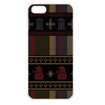 Tardis Doctor Who Ugly Holiday Apple iPhone 5 Seamless Case (White) Front