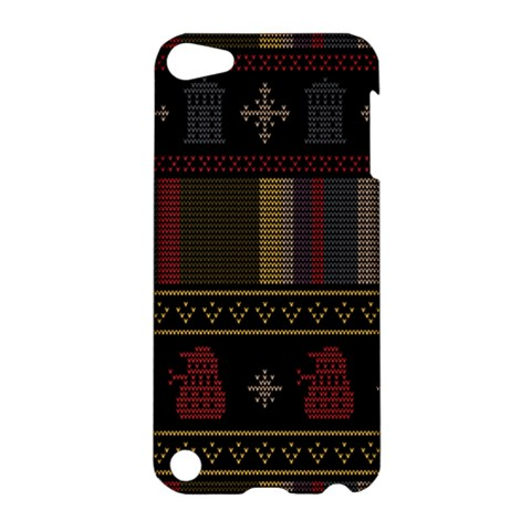 Tardis Doctor Who Ugly Holiday Apple iPod Touch 5 Hardshell Case