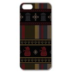 Tardis Doctor Who Ugly Holiday Apple Seamless iPhone 5 Case (Clear) Front