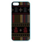 Tardis Doctor Who Ugly Holiday Apple Seamless iPhone 5 Case (Color) Front