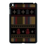 Tardis Doctor Who Ugly Holiday Apple iPad Mini Case (Black) Front