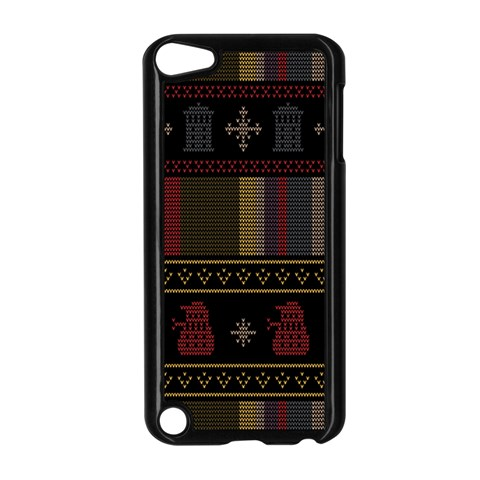 Tardis Doctor Who Ugly Holiday Apple iPod Touch 5 Case (Black)