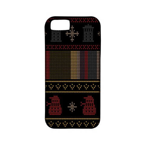 Tardis Doctor Who Ugly Holiday Apple iPhone 5 Classic Hardshell Case (PC+Silicone)