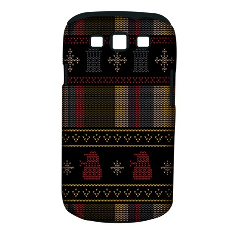 Tardis Doctor Who Ugly Holiday Samsung Galaxy S III Classic Hardshell Case (PC+Silicone)