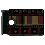 Tardis Doctor Who Ugly Holiday Apple iPad 2 Flip 360 Case Front
