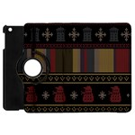 Tardis Doctor Who Ugly Holiday Apple iPad Mini Flip 360 Case Front